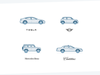 Car Illustrations - Weekly Project