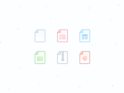 Redkix Attachment Icons zip excel pages word redkix files file documents document attachment icon icons