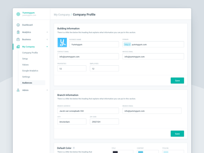 Profile dashboard avatar clean sidebar web application ui account profile