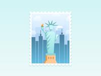 NYC Stamp Illustration