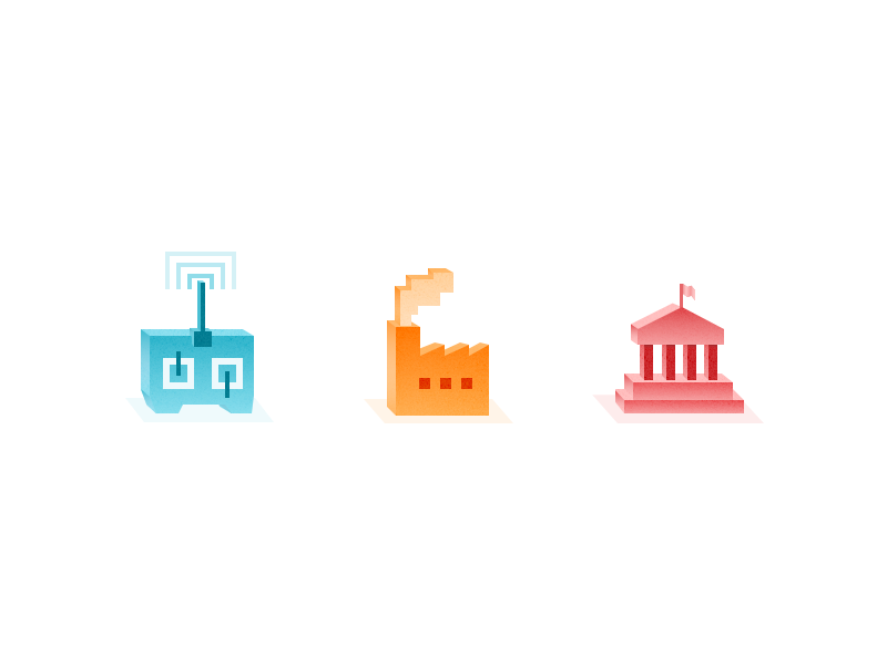 Isometric Icons politics authorities remote control factory remote illustrations illustration icons icon isometric