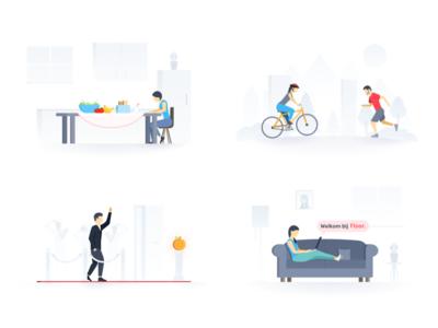 Floor web app illustrations diabetes diabetic characters avatars avatar illustrations illustration