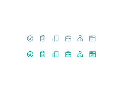 Sidebar icons sidebar navigation admin user suitcase analytics tools clipboard dashboard icon set icons icon