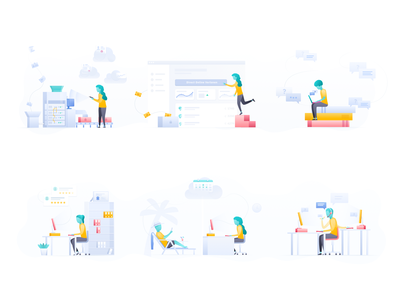 Employes Illustrations hero image accountants accountant human resource management human resources hrm hr payroll salary paid time off pto vacation illustration illustrations