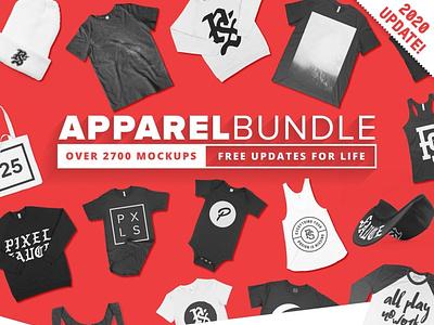 T-shirt Mockups Bundle & Over 2700 Mockups & Lifetime updates mockup
