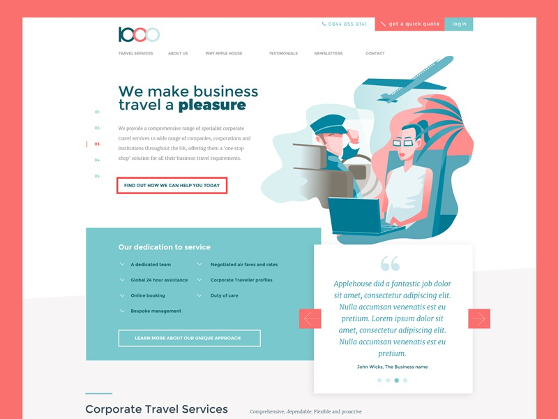 Corporate Illustrated Page