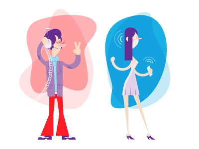 Musical Characters cool music characterdesigns illustration people illustrator vector