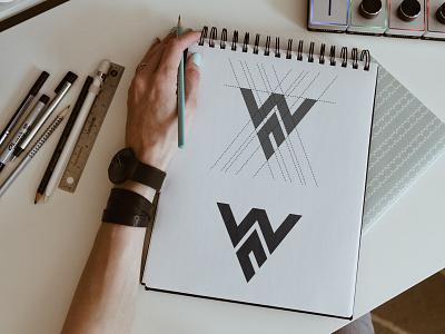 Wn Logo | Lettermark Logo minimal logo brand identity abstract modern logo unique letter logo wn logo n logo w logo typography illustration branding vector logos logo design graphic design
