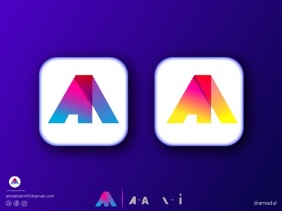 Ai Logo | Lettermark Logo | Modern Logo symbol abstract modern logo brand identity icon vector creative typography graphic design logo logo design minimal colorful logo gradient overlay flat combination mark wordmark logo lettermark logo typography logo logotypes