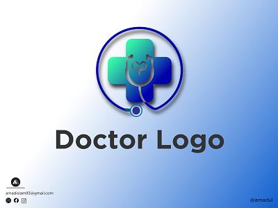 Doctor Logo modern logo symbol colorful logo creative logo and branding 3d negative space gradient overlay minimal flat abstract logo doctor logo medicine doctor illustration logos branding vector logo graphic design