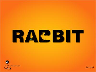 Wordmark logo | Logo design | Rabbit logo abstract modern logo lettermark icon identity vector creative logotype logo and branding minimal flat abstract logo typography logo logotypes wordmark logo rabbit logo logo design graphic design branding logo