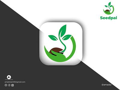 Seed logo | Modern logo | Minimal Logo illustration unique simple colorful logo symbol abstract startup log icon minimal flat leaf green logo seed logo creative modern logo logos branding vector logo graphic design