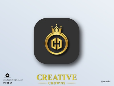 Crown Logo | Golden Logo | Modern Logo visual identity design colorful logo abstract startup logo icon illustration logotype logo and branding gradient overlay minimal flat crown golden gold creative modern logo logos logo graphic design