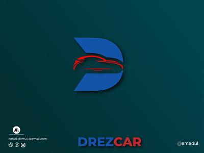 D Car | Drezcar | Modern logo double meaning negative space start up company name vector branding logos minimal illustration illustra flat monogram d car logo d car car car logo modern logo creative logo graphic design