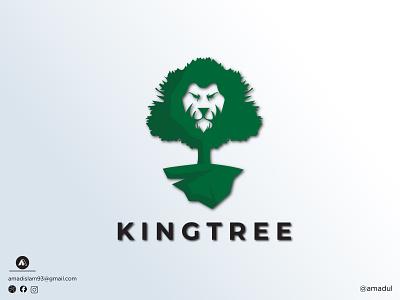 Tree logo | King tree | Logo design green logo symbol colorful logo abstract startup logo icon vector logo and branding minimal flat abstract logo creative modern logo tree king tree tree logo illustration logos logo graphic design