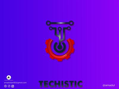 Engineer logo | Tech logo | Modern logo marketing agency startup logo colorful logo icon gradient overla minimal abstract logo illustration branding flat creative modern logo vector logos logo graphic design engineer logo engineer technology tech logo