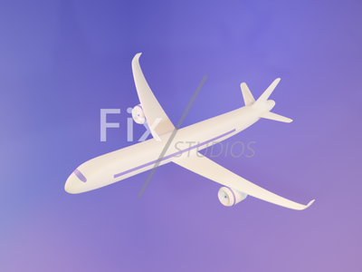 Plane 3d Modelling illustrator flat art design app ui ux animation illustration minimal graphic design icon