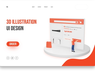 3D Illustrations for Landing Page or Website ux ui icon illustration graphic design 3d icon 3d illustration 3d landingpage landing