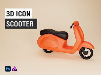 3D Icon of Scooter
