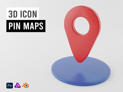 3D Icon Pin Maps