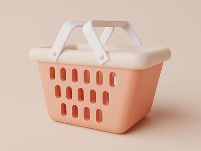 3d illustration of shopping cart ecommerce shopping bag trolley shopping cart cart illustration 3d