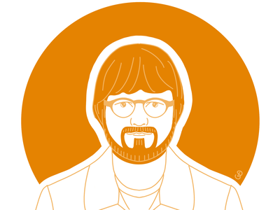 Ed Sheeran flat linework line art linaertwork illustration branding minimal graphic design design art