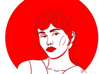 Miley Cyrus linework line minimal design linaertwork art flat line art illustration graphic design