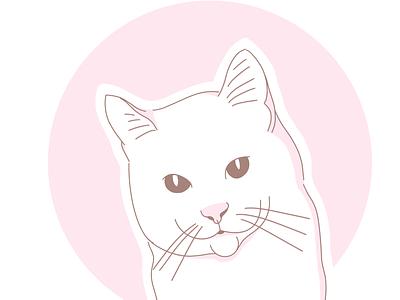 Cat lineart avatar icons line linework graphic design minimal illustration line art flat design cat design flat