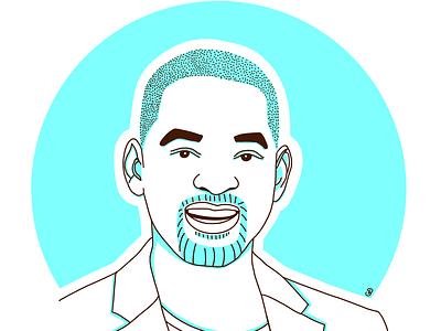 Will Smith avatar icons linework linaertwork line art art illustration design minimal graphic design flat