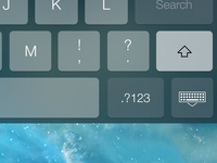 iOS 7 Dark Keyboard