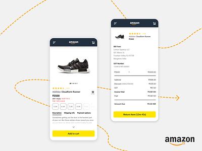 Amazon Redesign   Ecommerce Returns Case Study shopping app amazon web augmented reality app branding case study ui ux