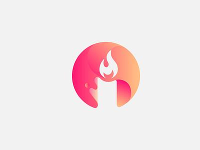 candle logo minimal design icon vector typography illustration modern logo design branding brand identity minimalist logo modern logo