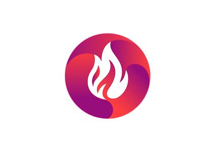 Fire icon app design brand identity typography logo minimalist logo branding logo design modern logo flat logo flatdesign flat