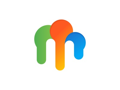 m cloud gradient branding design brand design brand logodesign logotype logos colorful design modern logo typography branding brand identity modern logo logo design