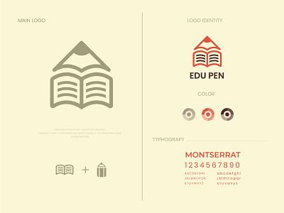 modern logo and brand identity pencil book logo education logo pen book brand branding design brand design logos logodesign logotype flat logo modern minimalist logo modern logo logo design branding brand identity