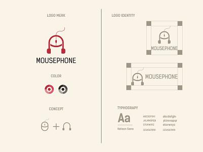 mousephone logo and brand identity design mouse logo design modern logo technology shop headphone mouse flat logo minimalist logo modern logo logo design branding brand identity