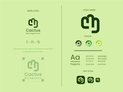 cactus logo and brand identity design modern logo green nature cactus flat logo minimalist logo modern logo logo design branding brand identity