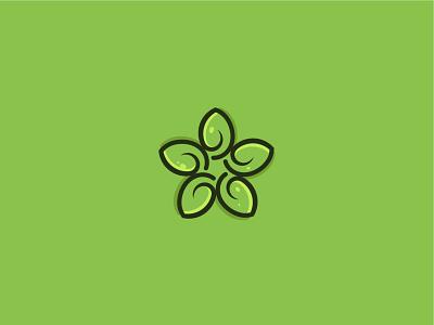 green organic nature natural mandala leaf green minimalist logo modern logo logo design branding brand identity