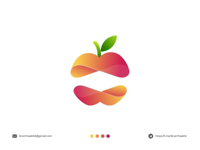 apple business company food fruit brand design modern logo branding brand identity logo design apple
