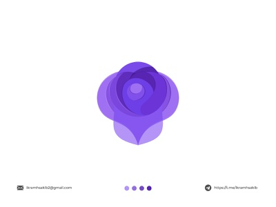 rose fresh graphic design purple nature flower design modern logo modern logo branding brand identity logo design rose