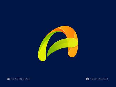 A business company graphic design a wordmark lettermark typography a letter mark fresh design modern logo modern logo branding brand identity logo design