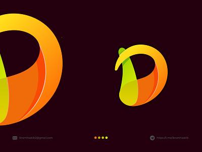D d letter logo mark acronym initial lettermark wordmark colorful fresh fun design minimalist logo modern logo modern logo branding brand identity logo design d