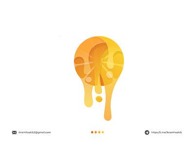 Orange app icon business company fresh nature fruit design modern logo modern logo branding brand identity logo design orange