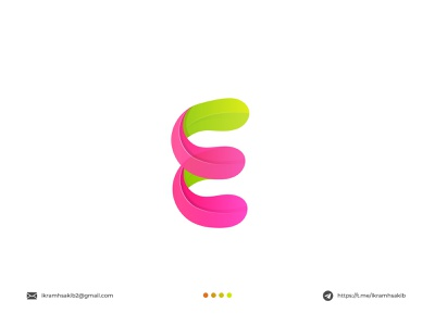E abstract colorful fun company business acronym initial e letter logo e design modern logo modern logo branding brand identity logo design
