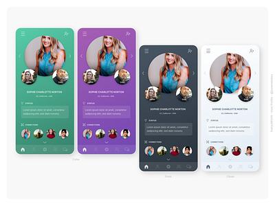 Daily UI #006 User Profile Design - Challenge #6 profile profile design social network dailyui006 ui app dailyui dailyuichallenge