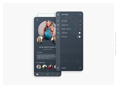 Daily UI #007 User Profile Design - Challenge #7 daily ui settings dailyui007 social network ui app dailyui dailyuichallenge