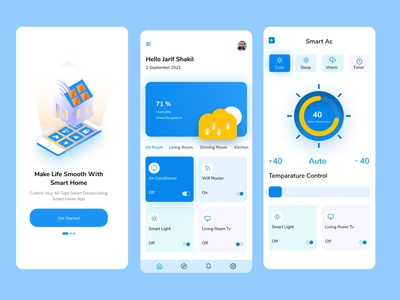 Smart home -Apps smart house apps trendy app figma design smart home figma mobile apps apps design uidesign uiux internetofthings appsui smart home ui smart house home automation smart home app smart home