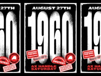 Ax Handle Saturday Poster typogaphy 2-color jacksonville numbers protest black and white 1960 poster history civil rights black lives matter