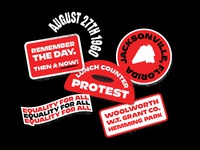 Ax Handle Saturday - Details blackandwhite 2-color protest 1960 jacksonville black lives matter equality stickers