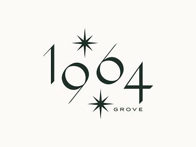 1964 Grove home typogaphy illustration 1964 house